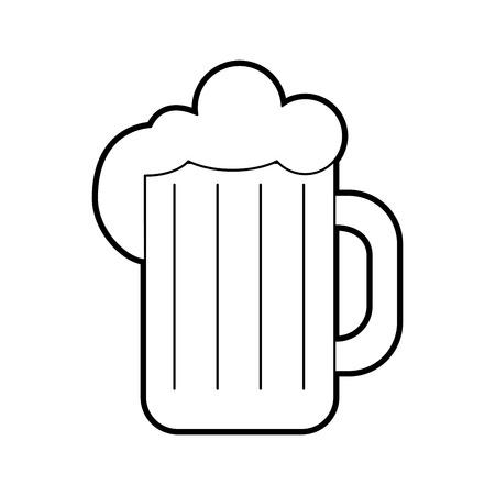 Pot de bière isolé icône du design illustration vectorielle Banque d'images - 83950714