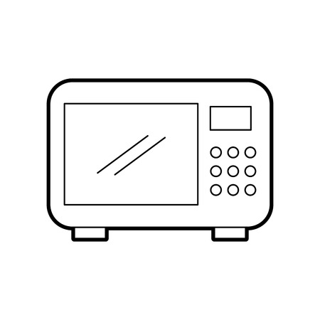 microwave oven isolated icon vector illustration design