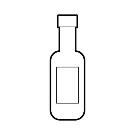 wine bottle isolated icon vector illustration design