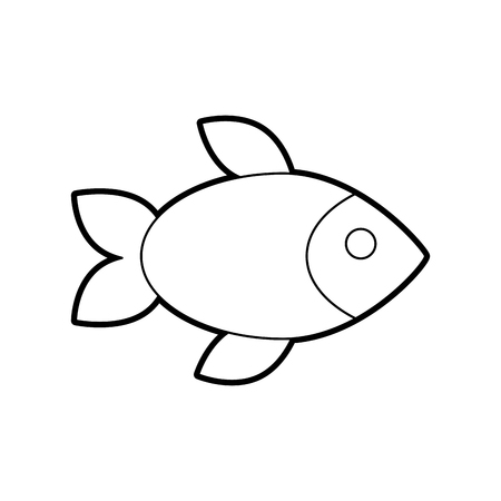 delicious fish isolated icon vector illustration design Illustration