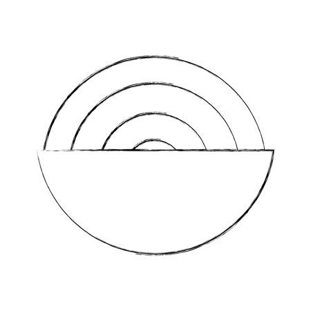dish with Delicious spaghetti isolated icon vector illustration design Illustration