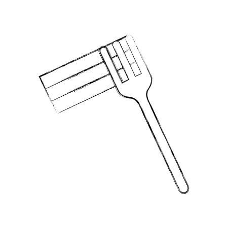 Forcella con progettazione dell'illustrazione di vettore dell'icona isolata spaghetti deliziosi Archivio Fotografico - 83950799