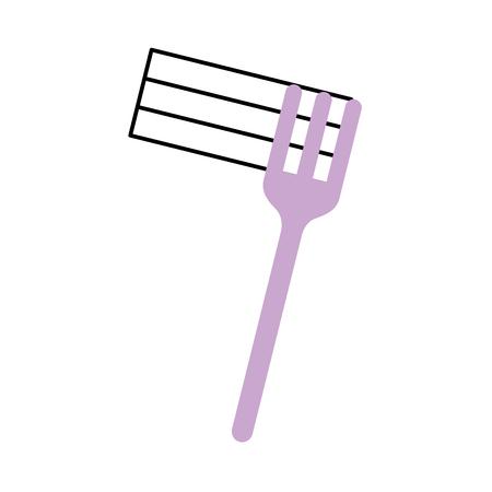 Forchetta con deliziosi spaghetti isolato icona illustrazione vettoriale di progettazione Archivio Fotografico - 83949527