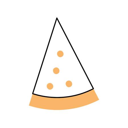 맛있는 피자 아이콘 벡터 일러스트 디자인 절연