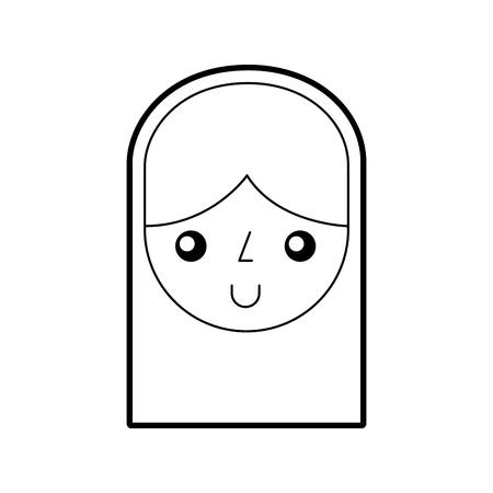 cute woman avatar character vector illustration design
