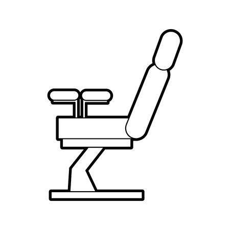 부인과 의자 절연 아이콘 벡터 일러스트 디자인