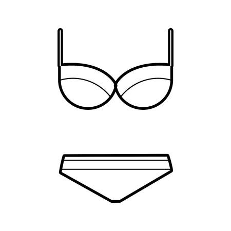 Female swimsuit isolated icon vector illustration design Иллюстрация