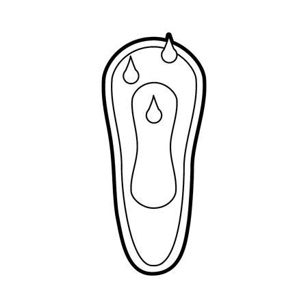 女性の衛生的なタオルをドロップ血ベクトル イラスト デザイン