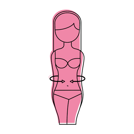 female torso anatomy silhouette vector illustration design
