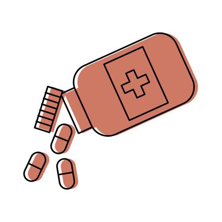 병 마약 격리 된 아이콘 벡터 일러스트 레이 션 디자인 일러스트
