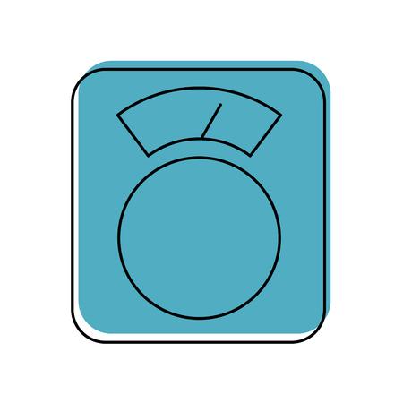 Schaal evenwicht geïsoleerd pictogram vector illustratie ontwerp