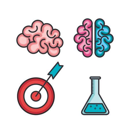 Set van strategische idee pictogrammen. Vectorillustratie