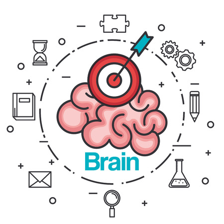 Brain strategic idea. Vector illustration Illusztráció