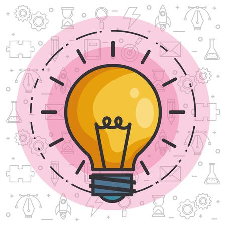 gloeilamp licht idee concept van grote ideeën inspiratie uitvinding vectorillustratie
