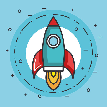 space rocket launch creative idea vector illustration