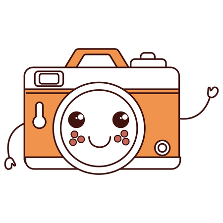 Photographic camera character vector illustration design Ilustração