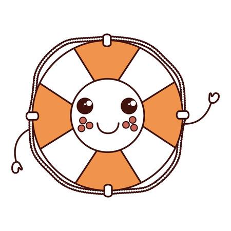 Ontwerp van de het karakter het vectorillustratie van de vlotterbadmeester