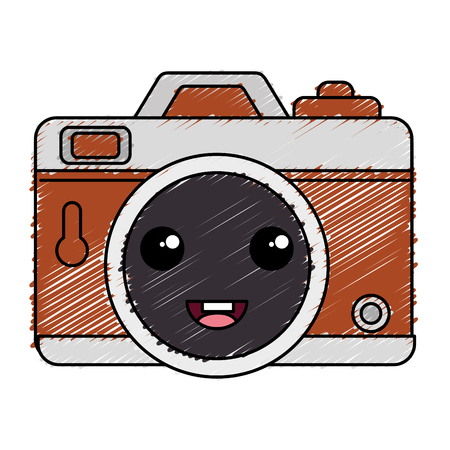 Photographic camera character vector illustration design Illusztráció