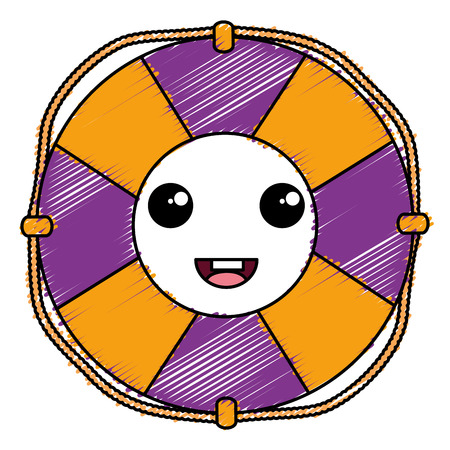 A float lifeguard kawaii character vector illustration design.