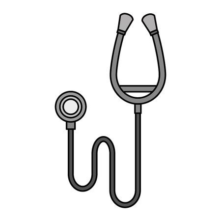A stethoscope medical isolated icon vector illustration design. Ilustração