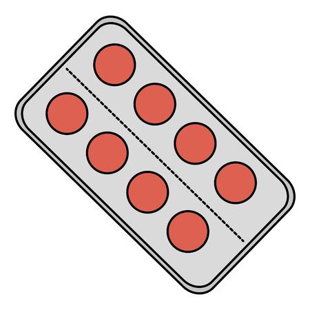 Vector de illustratieontwerp van het pillendrugs geïsoleerd pictogram.