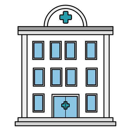 Ein Krankenhausgebäude isoliert Symbol Vektor-Illustration , Design , Standard-Bild - 84064319