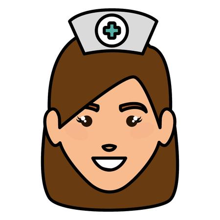 A woman nurse avatar character vector illustration design. Иллюстрация