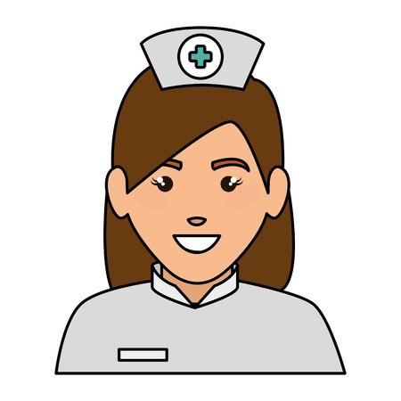A woman nurse avatar character vector illustration design. Illustration