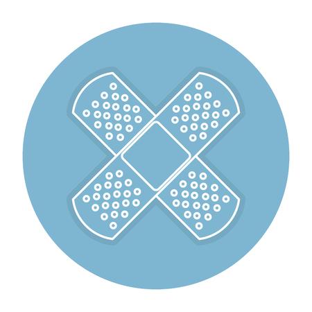 genezen band geïsoleerd pictogram vector illustratie ontwerp Stock Illustratie