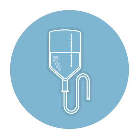 Blood bag icon vector illustration design Çizim