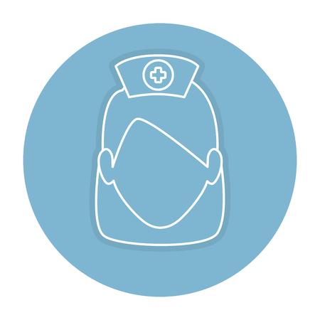 woman nurse avatar character vector illustration design