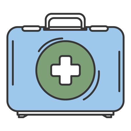 Medical kit isolated icon vector illustration design Ilustracja