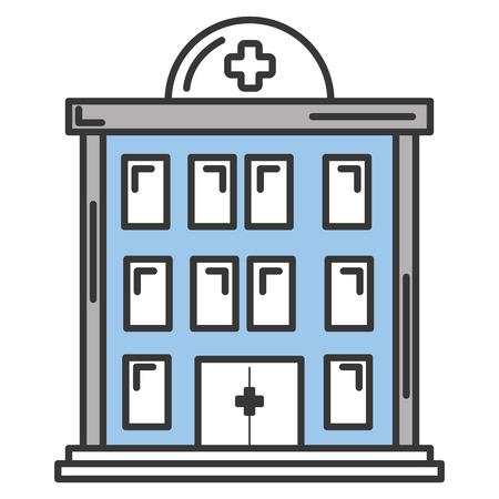 Krankenhausgebäude isoliert Symbol Vektor-Illustration , Design , Standard-Bild - 84067152
