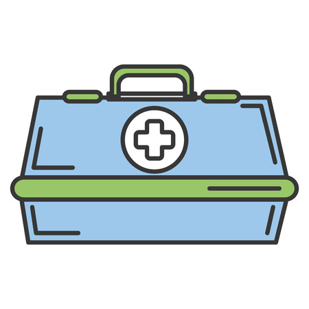 Medical kit isolated icon vector illustration design Illustration