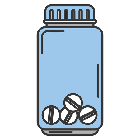Bottled drugs isolated icon vector illustration design