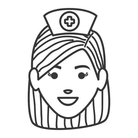 Female nurse avatar character vector illustration design