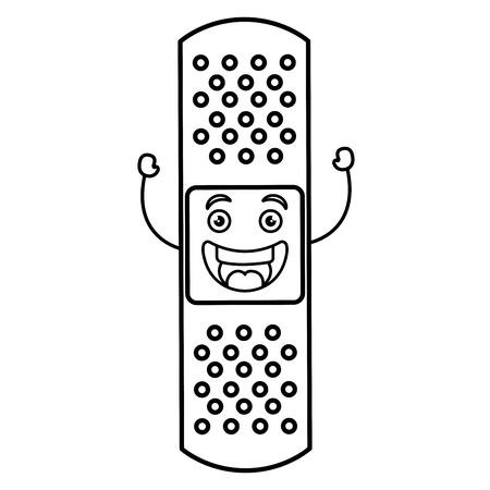 cure band kawaii character vector illustration design