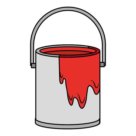 paint pot isolated icon vector illustration design Stock Illustratie