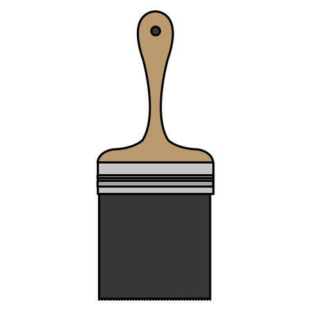 paint brush isolated icon vector illustration design