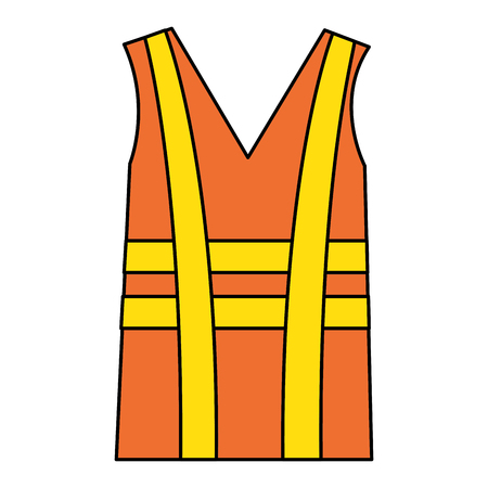 jacket construction isolated icon vector illustration design Çizim