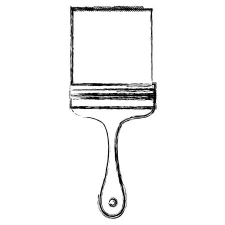 페인트 브러시 격리 된 아이콘 벡터 일러스트 디자인 스톡 콘텐츠 - 84065702