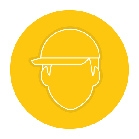 head worker with helmet vector illustration design Illustration