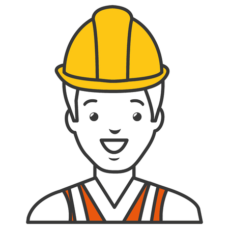 Worker with helmet avatar vector illustration design Stok Fotoğraf - 84064470
