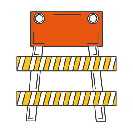 Construction barrière signal icône illustration vectorielle conception Banque d'images - 84065795