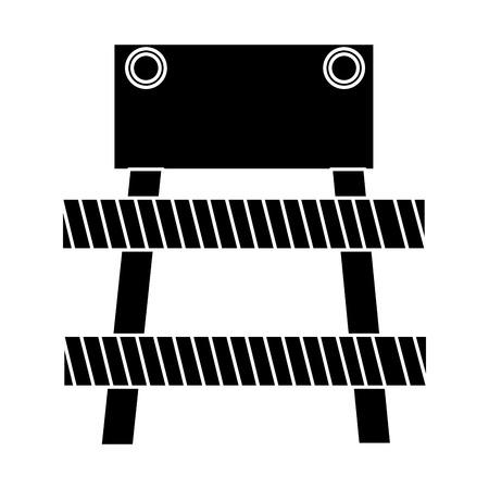 Construction barrière signal icône illustration vectorielle conception Banque d'images - 84065797