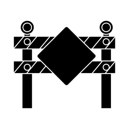 Construction barrière signal icône illustration vectorielle conception Banque d'images - 84065799