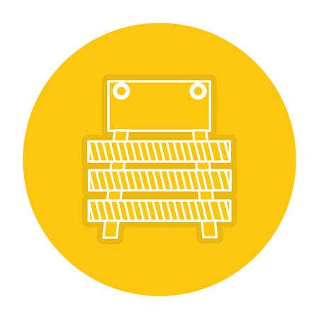 Clôture de construction icône de la signalisation . Banque d'images - 84072886