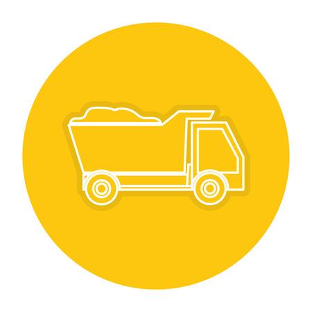 auto repair: Dump truck icon.