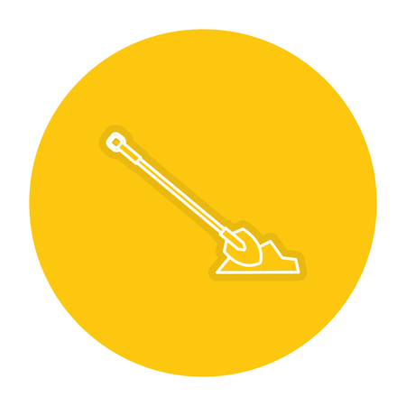 Construction shovel icon.