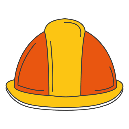 A helmet construction isolated icon vector illustration design.